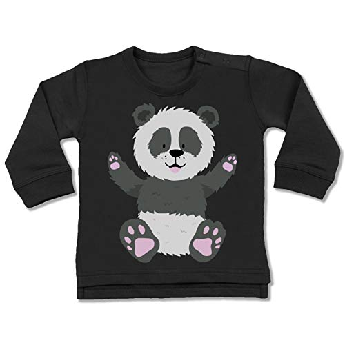 Shirtracer Tiermotive Baby - Kleiner Panda - 18-24 Monate - Schwarz - BZ31 - Baby Pullover
