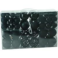Design exclusif avec boules de noël de couleur : noir-lot de 100