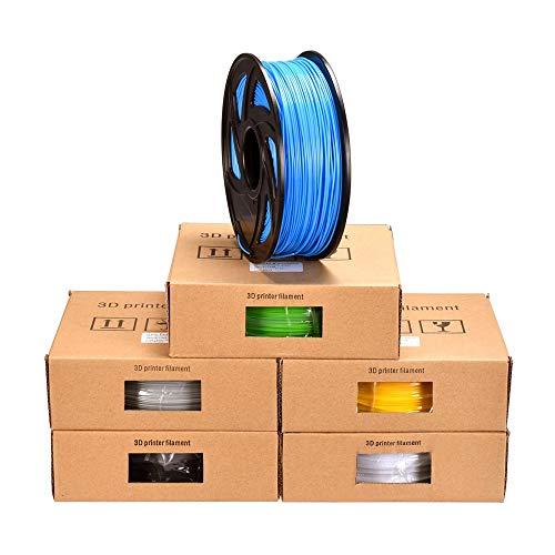 Z-Wenquan 3D PLA Filament Kunststoff for 3D Stift PLA Filament 1,75 MM 1 KG 3D Druckmaterial 3D Drucker Extruder Stift Impresora 3D Drucker Teile (Color : Red) (De Impresoras Fotos)