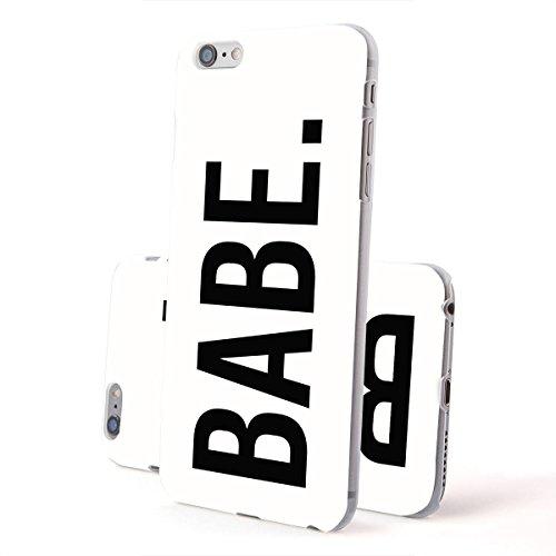 Motif Serie 2 Coque Pour Iphone - Bleu Marine Bois, Iphone 6 Plus / 6S plus Babe Blanc