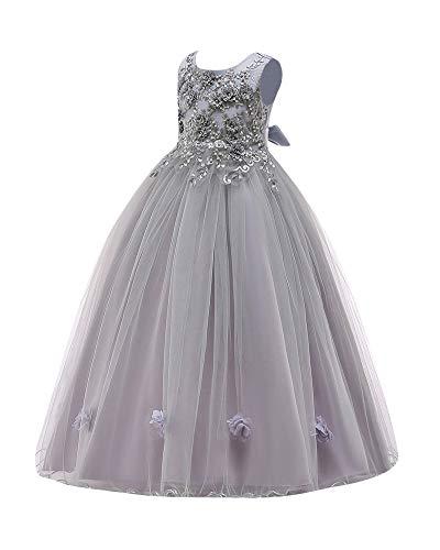 PengGengA Brautjungfer Hochzeitskleid Für Mädchen Festkleider Prinzessin Ärmellos Festzug Tüll...