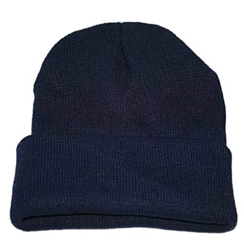 VJGOAL Damen Caps, Unisex Erwachsener Damen Herren Slouchy Knitting Beanie Hip Hop Cap Warme Winter Ski Hats Weihnachten Geburtstagsgeschenke (DarkBlau,1 PC)