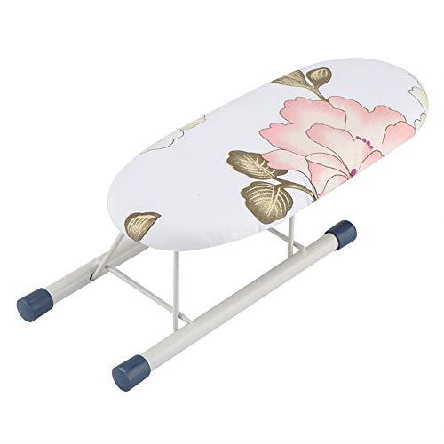 Asse da stiro da tavolo mini da tavolo portatile regolabile con copertura in cotone gambe pieghevoli per manica casa viaggio(peony)