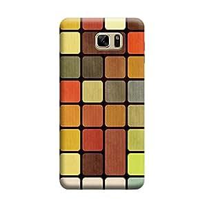 Desicase Samsung Note 7 Color Square with Black Background 3D Matte Finishing Printed Designer Hard Back Case Cover (Multicolor)
