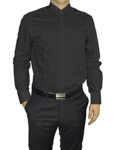 Redmond - Modern Fit - Herren Business Hemd mit extra langem Arm (69 cm), (150210) Schwarz(90)