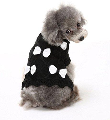 Haustierkleidung allgemein für Katzen und Hunde im Herbst und Winter — mehr Stil und Größe zu wählen (【L】 Hals 30cm Brust 36cm Länge 28cm, D)