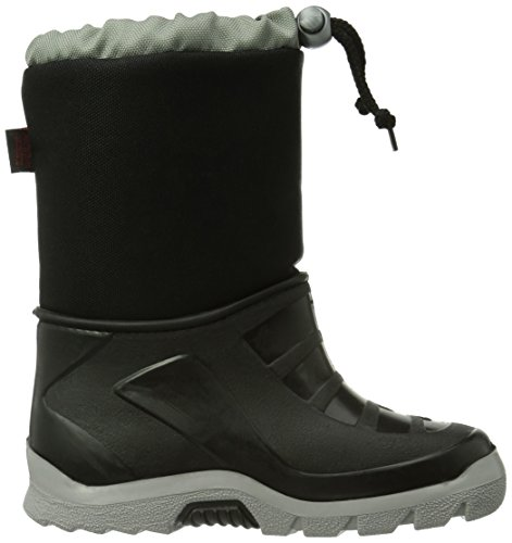 Captn Sharky 120101, Bottes de neige de hauteur moyenne, doublure chaude garçon Noir - Noir