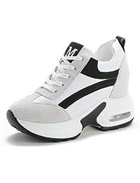 size 40 4ca88 fb851 tqgold® Sneakers Zeppa Donna Scarpe da Ginnastica con Zeppa Interna  Sportive Fitness Basse Scarpe 9CM