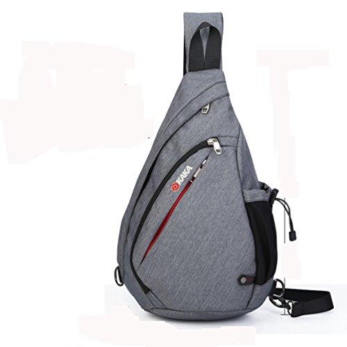 Unbalance Chest Pack, neue Mode Schulter Sling Bag Crossbody Pack Wandern Rucksack Sport Fahrrad Rucksack Handtasche Schule Daypack für Männer Frauen junge Mädchen, grau (Fahrrad-handtasche)