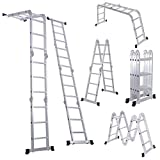 EQUAL Foldable And Adjustable Multipurpose Aluminium Super Ladder For Home And Industrial purpose
