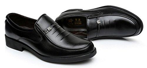 HYLM Men Business Chaussures Casual Chaussures de sport respirantes confortables Chaussures de conduite black