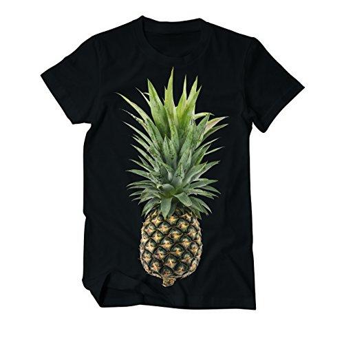 Ananas Vegan Fruits - Fun - T-Shirt Herren Schwarz