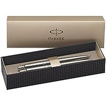 Parker Jotter - Bolígrafo de punta de bola con caja y lápiz portaminas, acero inoxidable, adornos en cromo