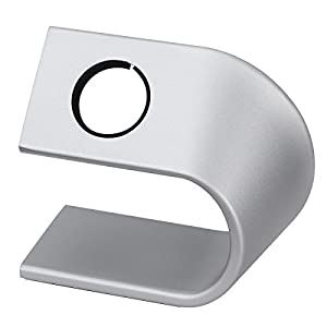 NICERIO Aluminium Uhr Stand für Apple Watch, Mount Stand Halter Tisch Stehen für Apple Watch, Silber