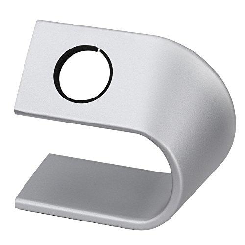 NICERIO Aluminium Uhr Ständer für Apple Watch,Montieren Ständer Halter Tischständer für Apple Watch,Silber