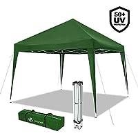 VOUNOT 3x3m Pop Up Gazebo Waterproof Heavy Duty Folding Party Tent Green