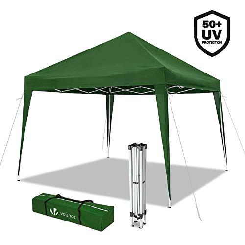 cenador de jardín 3x3m plegable | carpa de jardín plegable rápida para instalar | toldo plegable para camping, festival, playa, jardines | incluye bolsa de transporte