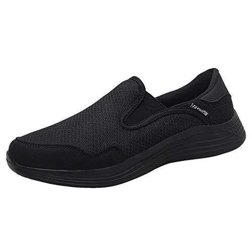 Knowin Erwachsene Straßenlaufschuhe Sportschuhe Bequem Ultra-Light Laufschuhe Herren Summer Hollow Mesh Breathable Sneakers rutschfeste Atmungsaktive Joggingschuhe Athletic Flat Running Schuhe