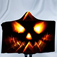 Clearance! MILL.GD88 Fashion Women Scarf丨Halloween Pumpkin Pattern Wear Cap Home Blanket Children