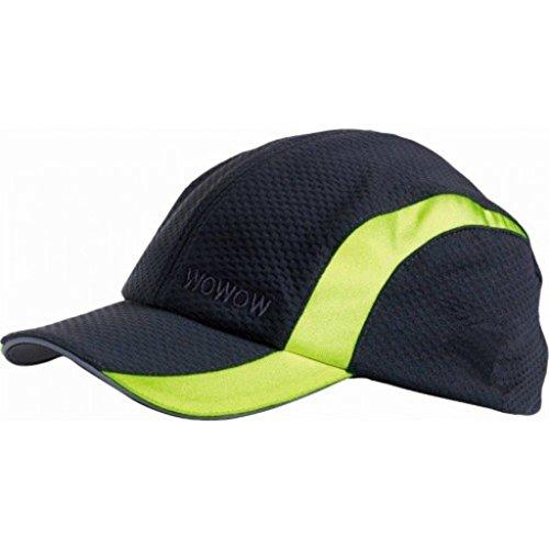Wowow ad alta visibilità Hi Vis luce riflettente sicurezza Cappello da baseball con visiera 1.0, Black, 54 cm