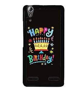 Printvisa Birthday Quote Black Background Back Case Cover for Lenovo A6000