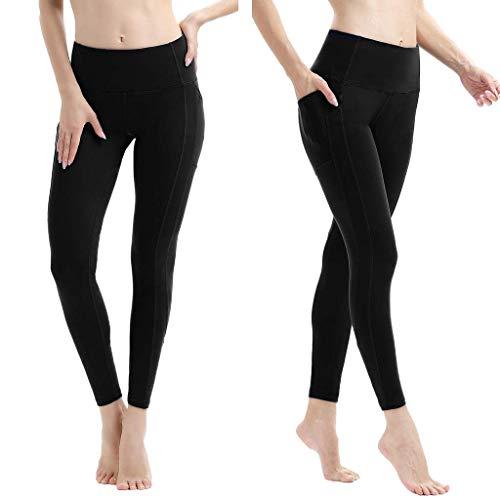 KIMODO® Damen Yoga Workout Out Athletisch Hose Sport Laufen Fitness Leggings mit Tasche Freizeithose Jogginghose