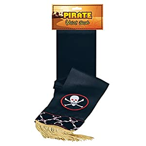 Pirate Sash Black (Skull Band) (accesorio de disfraz)