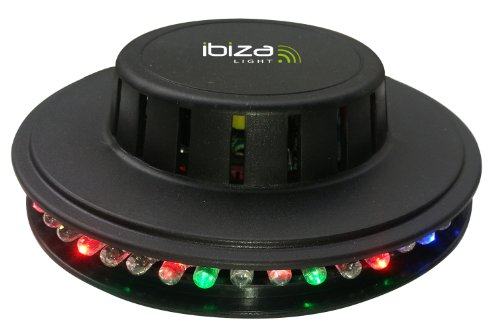 Ibiza LED UFO Lichteffekt LED-Untertasse Decken-Beleuchtung (48 leuchtstarke RGB LEDs, Automatik, Ne