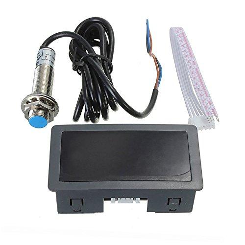 4 Display digitale a LED Contagiri Contagiri Numero di giri Contagiri di alta precisione con sensore di prossimità Hall Sensore NPN