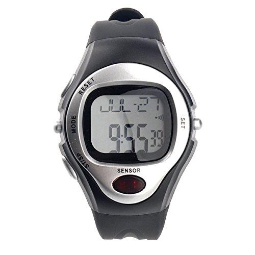 PIXNOR Impermeable deportivo pulso Rate Monitor calorías contador Digital reloj (plata)
