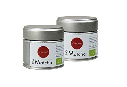 2 x Japan Bio Matcha Tee in der Dose a 30 g- Premiumqualität von Quertee (2 x 30 g)