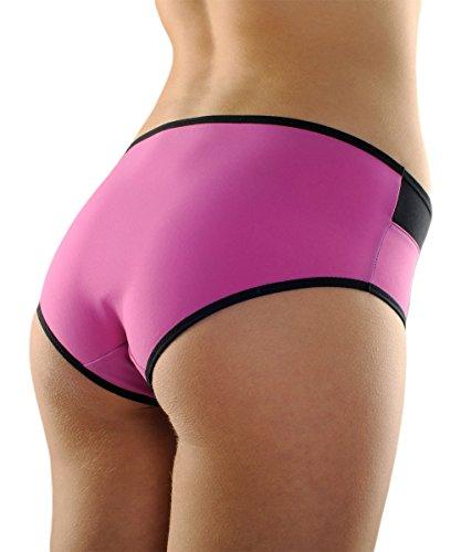 Boxer culotte de sport femme couleur et noir Fitme - 8 coloris à associer aux soutiens-gorge de sport brassières sport FITme Fuschia