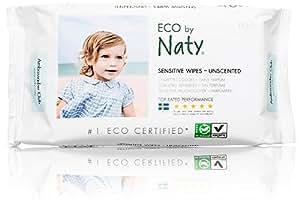 Naty by Nature Babycare Salviettime Umide Ecologiche, senza Profumo - 12 Confezioni da 56 Pezzi