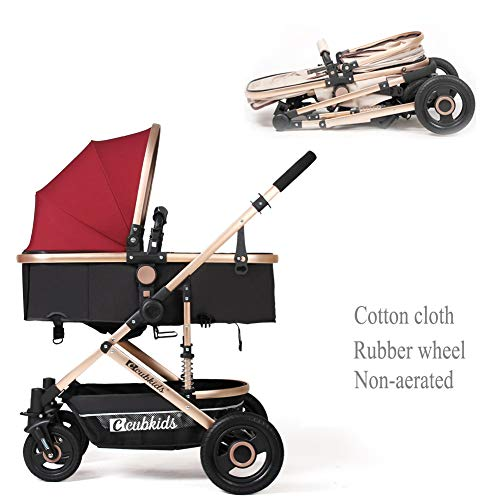 shuhong Travel System Baby Stroller Pushchair High View Portable Baby Cart Suitable For Children From 0 To 36 Months /20KG,B-2  yansh