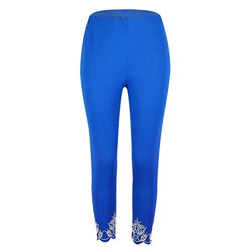 Legging Femme taille haute Pantalons de survêtement Femmes Yoga Pantalon Push Up Collants élastique pantalons Jogging doux confortable Fitness Gymnastique Leggins Hibote Bleu