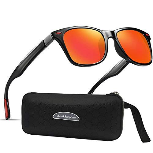 Polarisierte Sonnenbrille Herren Damen Luxus Retro Sonnenbrille Männlich/Sport im Freien Golf Radfahren Angeln Wandern Eyewear Sonnenbrille (O1range)