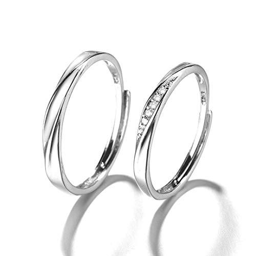 WHX DamenRingeEdelstahl,Diamantring für Damen und Herren Offener Zeigefingerring Geometrischer Ring Für alle Gelegenheiten geeignet