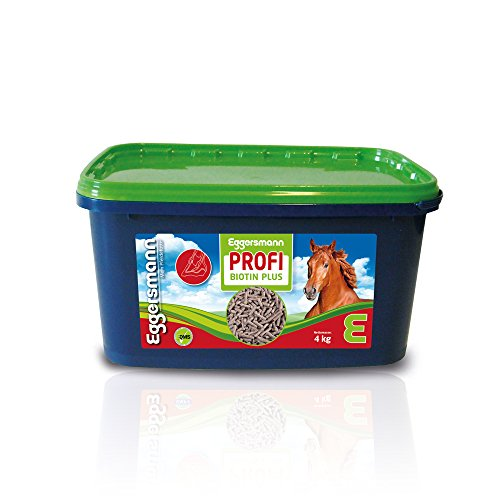 Eggersmann Profi Biotin Plus für Pferde, Konzentrat als Zusatzfutter für EIN besseres Hufwachstum und Haarkleid, 1-er Pack (1 x 4 kg) - Biotin Ergänzung