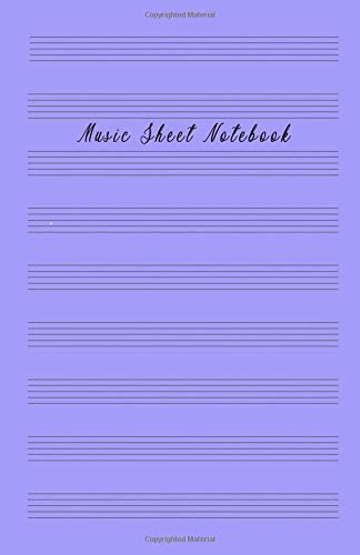Music sheet notebook: Music Manuscript Paper, Staff Paper, Musicians Notebook (Music Composition Books) 5.06 x 7.81 inches, 100 pages Soft Violet Cover