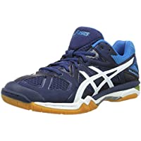 Asics Gel-Tactic M, Chaussures de Volleyball Homme, Poseidon/White/Safety