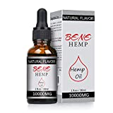 Hemp Oil Drops, 10000mg High Strength Hemp Extract, Full Spectrum Extract Hemp Seed Oil, Great for Anxiety Pain Relief Sleep Support (5%)