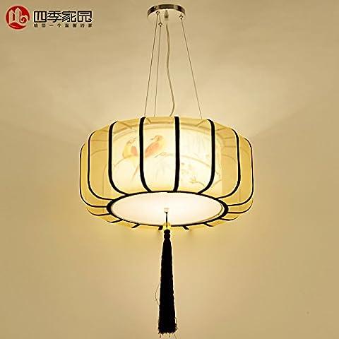 Le luci pendenti lampadario classico dipinto a