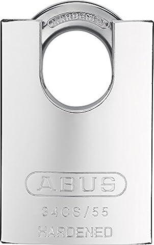 ABUS 34/55 Cadenas en acier trempé à anse protégée