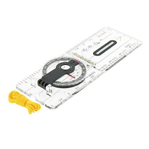 SMO Professional Folding Map Compass Hiking Camping Survival Gear Liquid Protractor