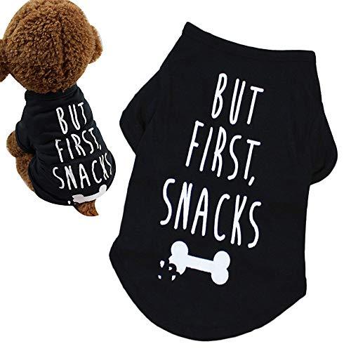 Lanking Chihuahua-Haustier-T-Shirt, Hundewelpen-Sommer-Kostüm-Weste-Mantel-kühle Kleider-Kleidung, Schwarzes S