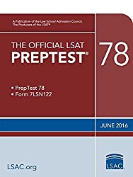 The Official LSAT Preptest 78: June 2016 Lsat