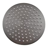 Round , Brushed Nickel : KES J203 ALL METAL 8-Inch Shower Head Fixed Mount Rainfall Style Stainless Steel, Brushed Nickel