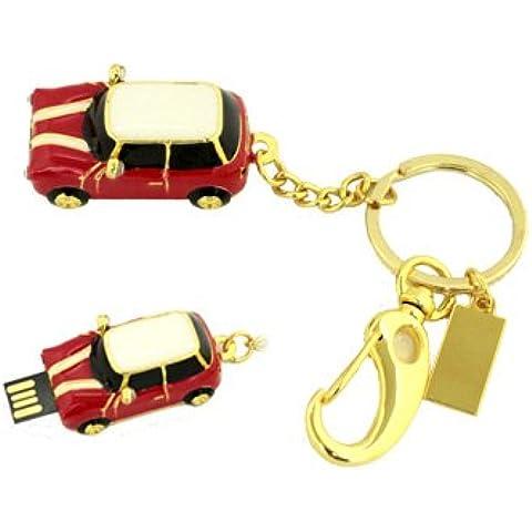 Pendrive 8GB diseño coche dispositivo USB llavero pen drive deslizante