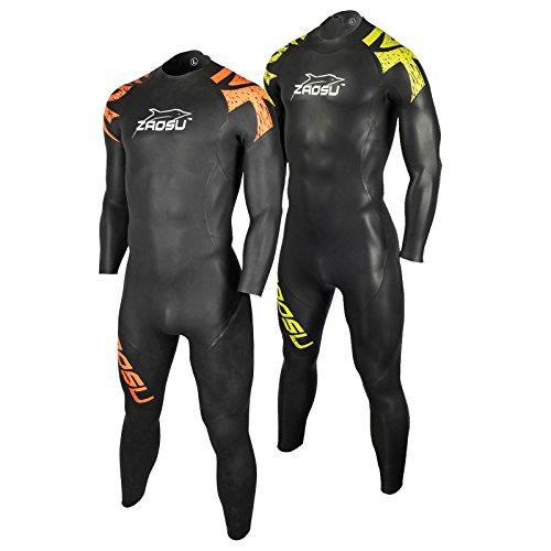 ZAOSU Herren Neoprenanzug Z-Training | Triathlon Wetsuit für Einsteiger, Farbe:Orange, Größe:ML
