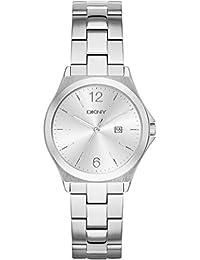 DKNY Damen-Armbanduhr Digital Quarz Edelstahl NY2365